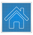 Blueprint House Icon vector image
