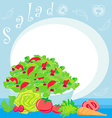 bowl full of fresh vegetable salad vector image