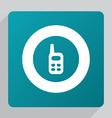 flat radio icon vector image