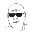 Image of a bald man wearing glasses vector image