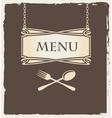 Spoon menu vector image