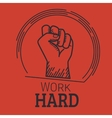 Work hard vector image