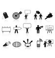 black marketing icons set vector image vector image