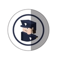 sticker lego with portrait policeman vector image