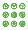 Set of recycle symbols and icons vector image