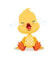 little cartoon duckling crying cute emoji vector image