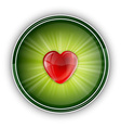 heart symbol round green vector image