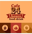 cafe labels vector image