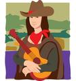 Mona Lisa cowgirl vector image