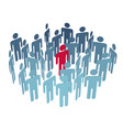 key man center figure in group company people vector image vector image