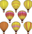 Hot air balloon design vector image