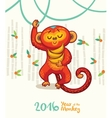 New Year card with Red Monkey for year 2016 vector image