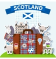 Scotland Travel Background vector image