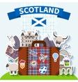 Scotland Travel Background vector image