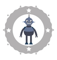 Funny robot cartoon vector image