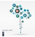 Growth flower concept for business communication vector image