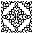 Black Celtic seamless pattern vector image