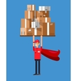 Funny Delivery character man vector image