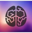 brain icon on blurred background vector image