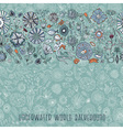 hand drawn underwater world background vector image