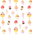 Ice cream summer pattern vector image