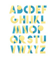 Retro font in green and blue Beige alphabet vector image
