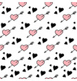 seamless pattern hearts stylish hipster vector image