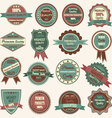 Vintage Badge Label Frame Premium Badge Logo vector image