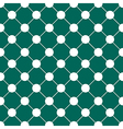 White Polka dot Chess Board Grid Teal Green vector image