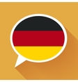 White speech bubble with Germany flag on orange vector image