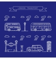 public transport London vector image