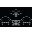 Fabulous Rich Baroque Rococo chair and table set vector image