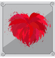 Heart-shaped red object vector image