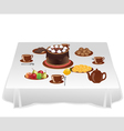 Table with sweets vector image