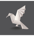 origami bird isolated vector image vector image