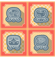 Seamless background with Maya calendar named days vector image