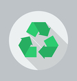 Eco Flat Icon Recycle vector image