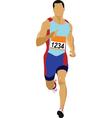 runner silhouette vector image vector image