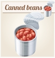 Canned beans Detailed Icon vector image
