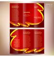 brochure design template folder leaflet ribbon vector image
