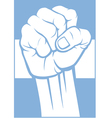 Argentina fist and flag vector image