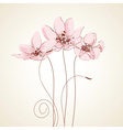 Cute floral greeting card vector image