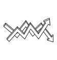 Financial arrows icon vector image
