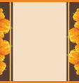 frame design with thanksgiving theme vector image
