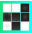 Isolated abstract checkered background vector image