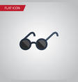 isolated eyeglasses flat icon spectacles vector image