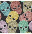 pattern scull vector image