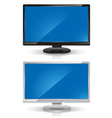 wide screen lcd monitors vector image