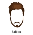 Men cartoon hairstyles with beards and mustache vector image