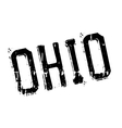 Ohio stamp rubber grunge vector image